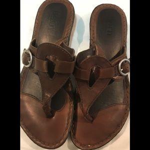 Women's Born leather sandals size 6